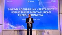 """BRI bersama Pertamina menggelar webinar bertajuk """"Sinergi Agen BRILink – Pertashop untuk Turut Menyalurkan Energi Indonesia"""" yang dilaksanakan pada Jumat (19/02) di Gedung Kantor Pusat Bank BRI."""