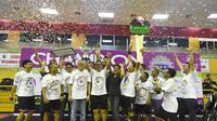Finansia Multi Finance resmi menyandang predikat sebagai juara umum pada ajang Pekan Olah Raga Asosiasi Perusahaan Pembiayaan Indonesia (POR-APPI) 2017. (Bola.com/Dok. Rorojongkrang EO)