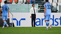 Pelatih Lazio, Simone Inzaghi. (AFP/Isabella Bonotto)