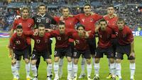 Timnas Albania (AFP/Bertrand Guay).