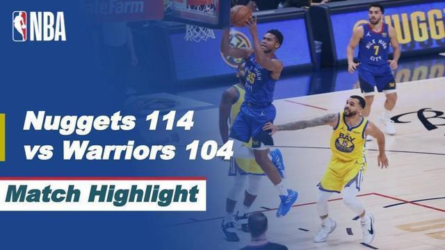 Berita video highlights NBA 2020/2021 antara Denver Nuggets melawan Golden State Warriors yang berakhir dengan skor 114-104, Jumat (15/1/2021) siang hari WIB.