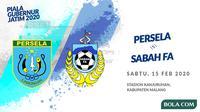 Piala Gubernur Jatim 2020: Persela Lamongan vs Sabah FA. (Bola.com/Dody Iryawan)