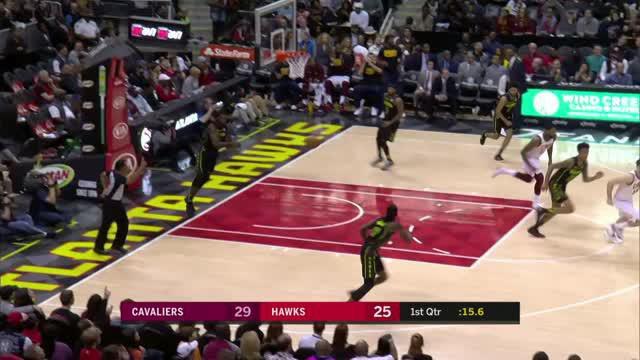 Berita video game recap NBA 2017-2018 antara Cleveland Cavaliers melawan Atalanta Hawks dengan skor 123-107.