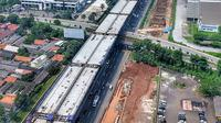Proyek Jalan Tol Layang Jakarta-Cikampek II atau Japek II Elevated. Dok PUPR