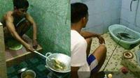 6 Aksi Kocak Cowok saat di Kamar Mandi Ini Bikin Tepuk Jidat (sumber: Instagram.com/awreceh.id dan Twitter.com/pol_fak)