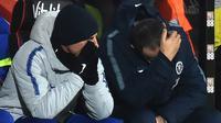 Reaksi manajer Chelsea, Maurizio Sarri (kanan), saat timnya kalah 0-4 dari AFC Bournemouth pada laga Premier League di Stadion Vitality, Rabu (30/1/2019). (AFP/Glyn Kirk)