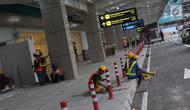 Suasana pembangunan Bandara Internasional Yogyakarta di Kabupaten Kulon Progo, DI Yogyakarta, Selasa (23/4). Progres pembangunan Bandara Internasional Yogyakarta hampir 100 persen, sementara progres pembangunan keseluruhannya termasuk domestik mencapai 47 persen. (Liputan6.com/Helmi Fithriansyah)