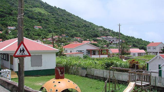 Arena taman bermain di Saba, Karibia. (Creative Commons)