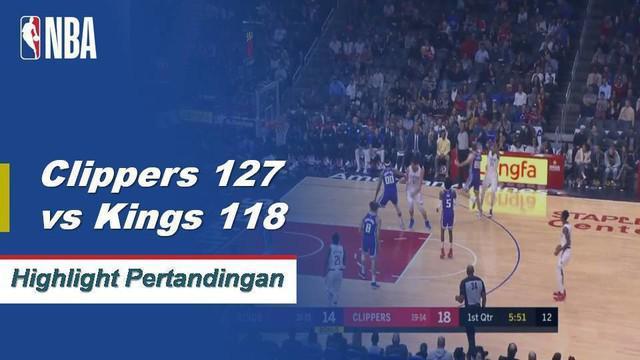 Lou Williams mencetak 24 poin dan memberikan 6 assist saat menang melawan Kings 127-118