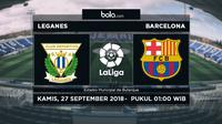 La Liga 2018-2019 Leganes Vs Barcelona (Bola.com/Adreanus Titus)