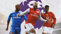 Premier League - Nicolas Anelka, Thierry Henry, Louis Saha (Bola.com/Adreanus Titus)