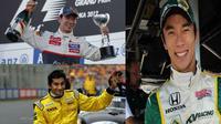 5 Pebalap Asia paling sukses dalam sejarah F1. (Wikipedia/ F1 Fanatic)