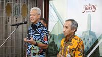 Gubernur Jawa Tengah, Ganjar Pranowo memberikan keterangan terkait wabah virus Corona di Jawa Tengah. (Foto: Liputan6.com/Felek Wahyu)