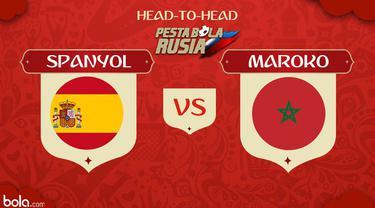 Timnas Spanyol akan berhadapan dengan Maroko pada laga pamungkas Grup B Piala Dunia 2018 di Kaliningrad Stadium, Kaliningrad, Senin (25/6/2018). La Furia Roja wajib meraih kemenangan demi memastikan lolos ke babak 16 besar.