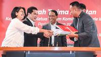 Menpora Zainudin Amali saat menghadiri Sertijab NOC Indonesia periode 2019-2023 di FX Tower Pintu Satu, Senayan, Jakarta.