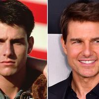 Gantengnya Tom Cruise bisa dibilang layaknya vampire alias abadi. Lihat saja perbandingan foto ini! (Digital Spy)