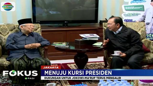 Selain Tanri Abeng, Wali Kota Solo FX Hadi Rudyatmo juga datang menyambangi kediaman Ma'ruf Amin untuk membahas mengenai posko kemenangan di Solo dan kegiatan menjelang pilpres.