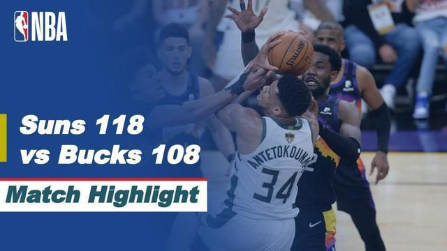 Berita video highlight Final Playoff NBA 2021 pertandingan antara Phoenix Suns melawan Milwaukee Bucks, Jumat (9/7/2021) pagi WIB.
