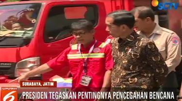 Presiden Jokowi menjelaskan, saat ini peralatan dan sarana-prasana yang kita miliki dalam penangangan bencana sudah baik.