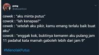 5 Cuitan #Menolakputus Ala Netizen Ini Menggelitik Banget (sumber: twitter.com/akusantoss)