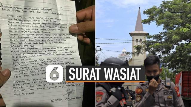 Surat ditulis di kertas, berisi permintaan maaf dan tinggalkan uang.