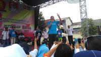 Sandiaga menyampaikan agar warga DKI tidak melakukan tindakan yang memecah belah persatuan. (Liputan6.com/Rezki Apriliya Iskandar)