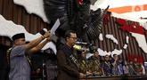 Geladi kotor pelantikan Presiden dan Wakil Presiden terpilih Joko Widodo dan Ma'ruf Amin di Kompleks Parlemen, Senayan, Jakarta Jumat (18/10/2019). Geladi kotor digelar untuk mempersiapkan acara pelantikan pada 20 Oktober 2019. (Liputan6.com/JohanTallo)
