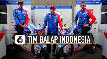 Jelang musim baru balap MotoGP 2021, tim balap Indonesia lakukan launching (24/2/2021).