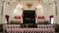 Anggota Paskibraka dari tim Nusa akan bertindak sebagai pengibar upacara HUT ke-73 RI di Istana Negara pada pukul 10.00 WIB, pagi ini. (Foto: Liputan6.com/M Fajri Erdyansyah)
