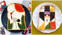 Lukisan roti tawar (Sumber: Instagram/sasamana1204)