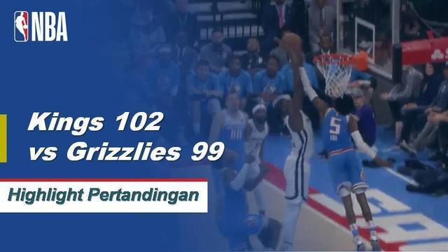 Buddy Hield mengumpulkan 28 poin dan 8 rebound untuk kemenangan melawan Grizzlies 102-99