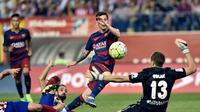 Lionel Messi kecoh Oblak di laga Atletico Madrid vs Barcelona (AFP)