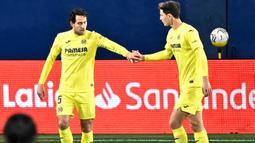 Dani Parejo - Pemain senior di tim Villarreal ini merupakan pilar penting di lini tengah. Jika skuat Manchester United lengah dan gagal menghentikan pergerakannya bisa jadi pemain berusia 32 tahun itu akan menjadi mimpi buruk skuat asuhan Ole Gunnar Solksjaer di final. (AFP/Jose Jordan)