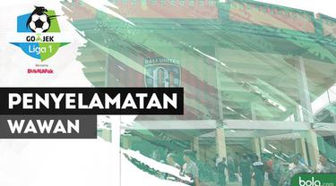 Berita video penyelamatan tak terbayangkan kiper Bali United, Wawan Hendrawan, saat menghadapi Sriwijaya FC pada pekan ketujuh Gojek Liga 1 2018 bersama Bukalapak, Sabtu (5/5/2018).