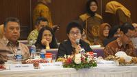 Menteri Kesehatan RI Nila Moeloek saat Rapat Kerja Kesehatan Nasional (Rakekesnas) di Tangerang Selatan, Banten. (Foto: Humas Kementerian Kesehatan RI)
