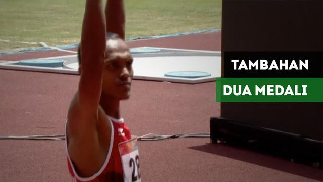 Berita video dua atlet para atletik Indonesia sumbang medali dari nomor lari putra 200M T20.