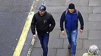Dua orang terduga pelaku racun syaraf Novichok pada bekas agen mata-mata Rusia di Salisbury, Inggris (AP)