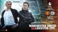 Manchester United vs Leicester City (Liputan6.com/Abdillah)