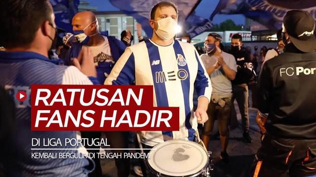 Berita video ratusan fans Porto menghadiri laga Liga Portugal 2019-2020 yang kembali bergulir saat pandemi COVID-19. Apakah La Liga nantinya akan seperti itu situasinya?