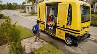 Bus Sekolah Sudah Menggunakan Teknologi Tanpa Supir (foto: Curbed)