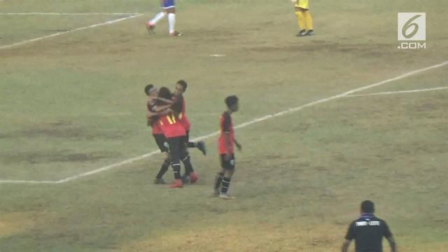 Timnas Timor Leste U-16 menekuk Filipina U-16 dengan skor 4-1.