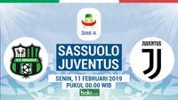 Jadwal Serie A 2018-2019 pekan ke-23, Sassuolo vs Juventus. (Bola.com/Dody Iryawan)