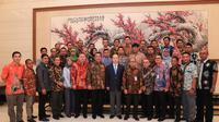 Mendes PDTT Eko Putro Sandjojo di acara pelepasan peserta Benchmarking Batch II di kantor Kedutaan Besar Republik Rakyat Tiongko, Jakarta, Senin (2/9).