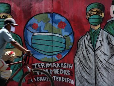 Dukungan Perjuangan Tim Medis Tertuang Dalam Mural