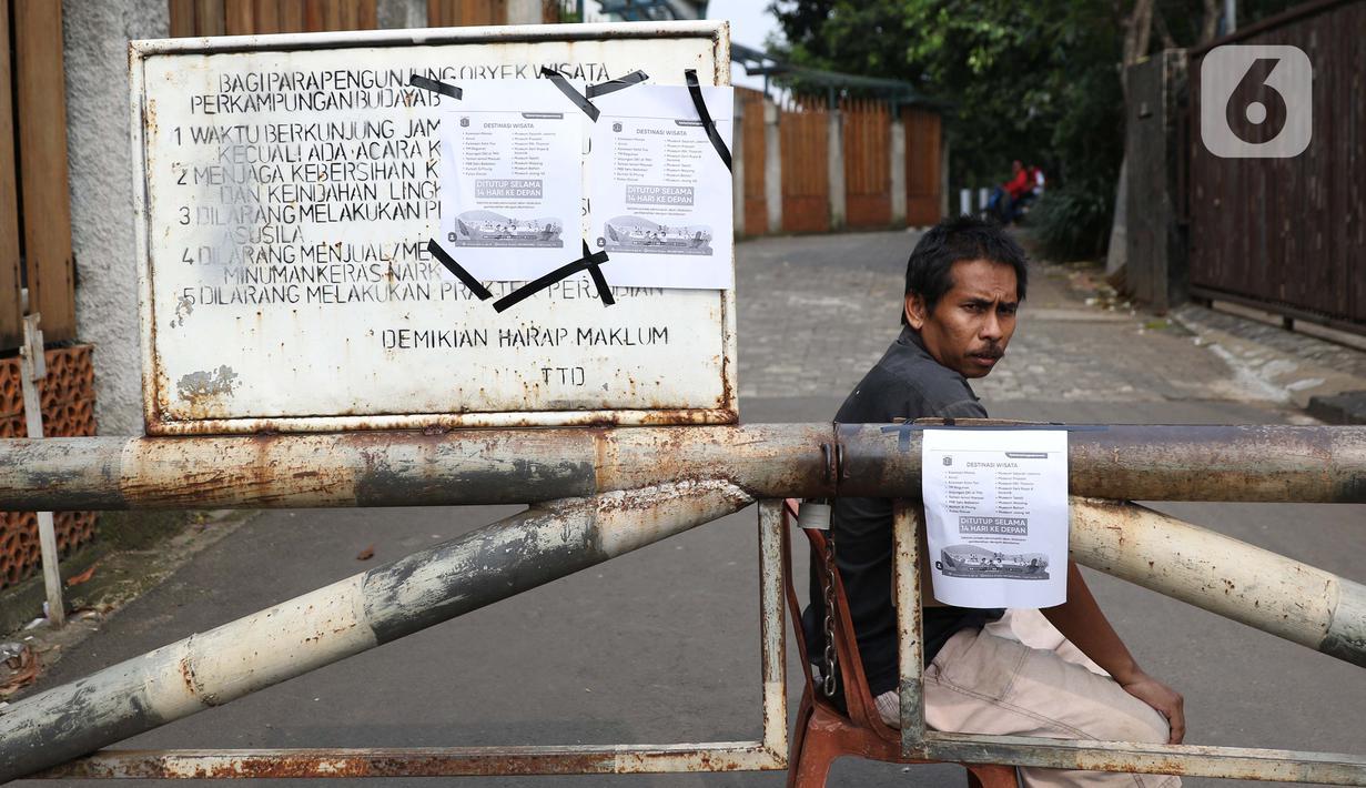 Foto Cegah Penyebaran Covid 19 Setu Babakan Ditutup 14 Hari News Liputan6 Com