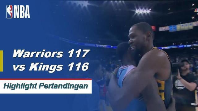 Kevin Durant memimpin Warriors meraih kemenangan atas Kings dengan 44 poin yang menunjukkan kemenangan.