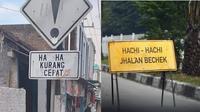 Rambu lalu lintas nyeleneh (Sumber: Instagram/meme.comic.lovers/1cak.com)