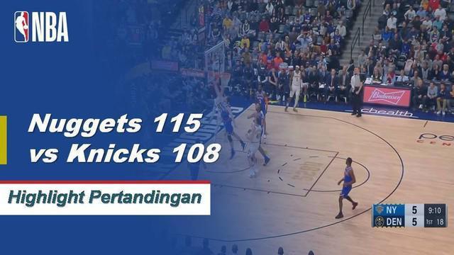 Nuggets mengendarai triple-double lain dari Nikola Jokic untuk menang 115-108 atas Knicks. Malik Beasley menyumbang 23 poin dari bangku cadangan untuk Denver dalam kemenangan.