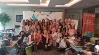 Sebanyak 30 peserta belajar merias wajahnya untuk hasil selfie sempurna di #LifestyleMeetup Liputan6.com.