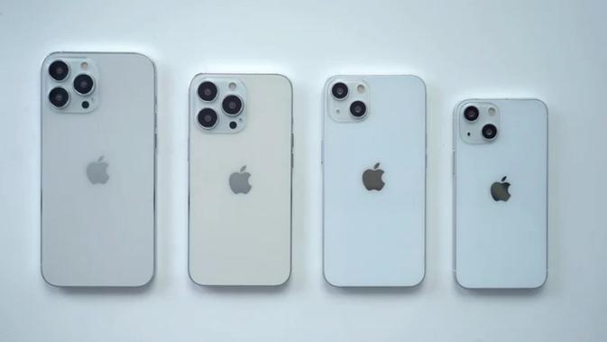 Model dummy iPhone 13 series yang akan diumumkan Apple tahun ini. (Doc: Macrumors)